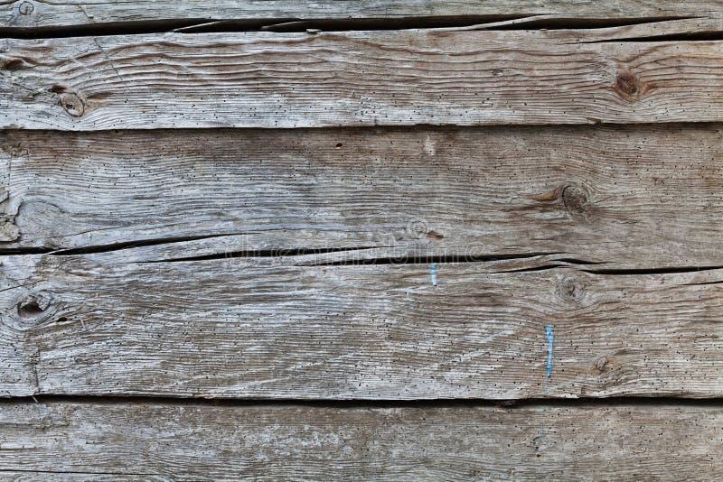 Parete di legno per fondo Struttura d'annata o superficie Bordi grigi anziani fotografia stock libera da diritti