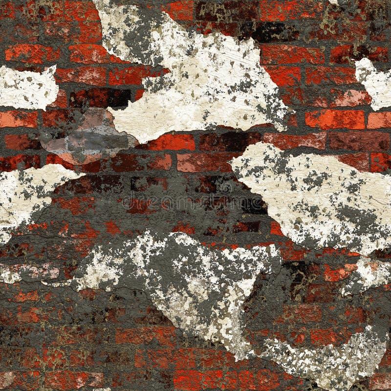 Parete di mattoni intonacata sporca di Grunge royalty illustrazione gratis