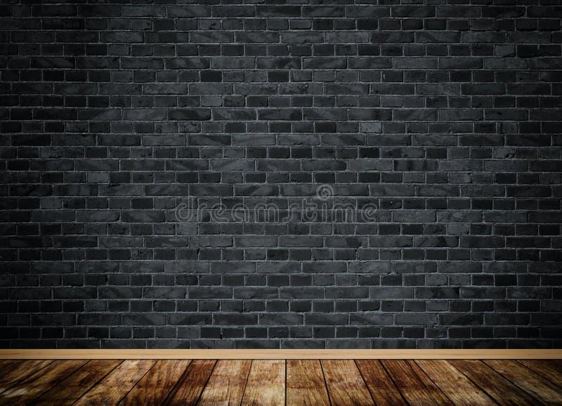 Parete di mattoni scura di lerciume illustrazione di stock