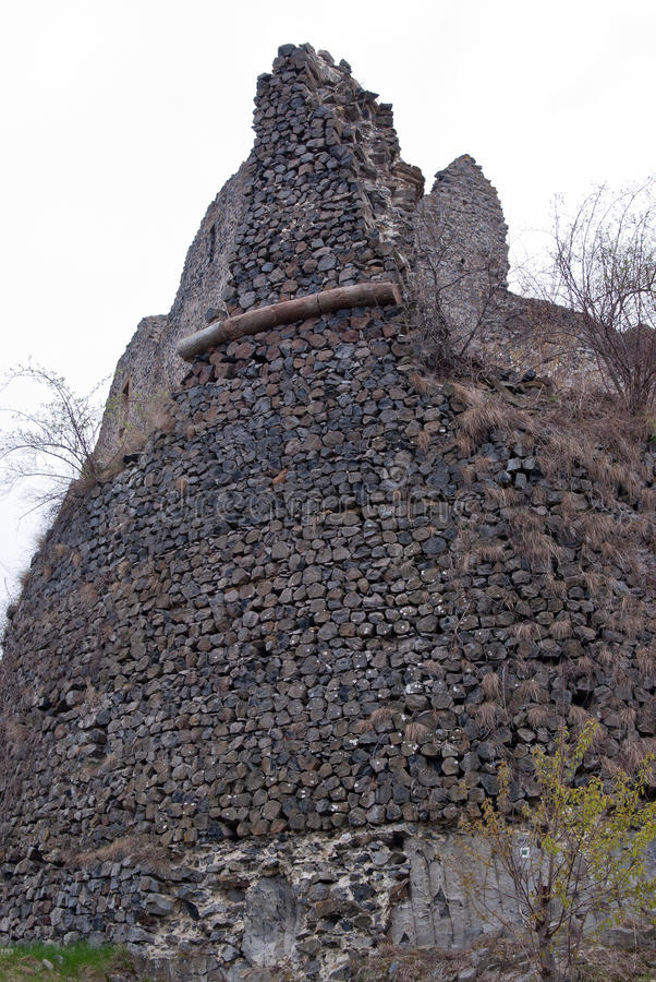 Parete di pietra del castello fotografia stock