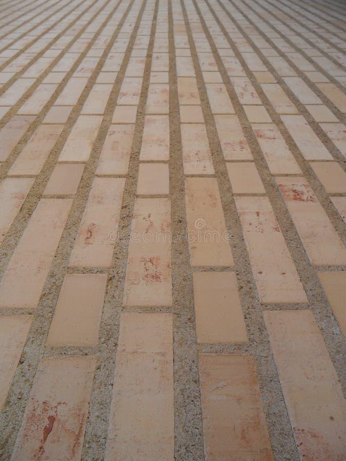 Parete di pietra del mattone come componente di architettura a Vaduz fotografie stock