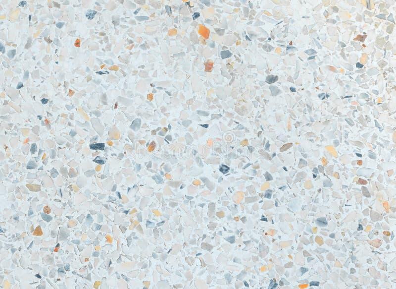 Parete di pietra lucidata di struttura del pavimento di terrazzo vecchia, del modello e marmo di superficie di colore per l'orizz fotografie stock