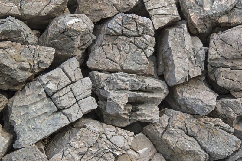 Parete di pietra naturale in Croazia immagini stock libere da diritti