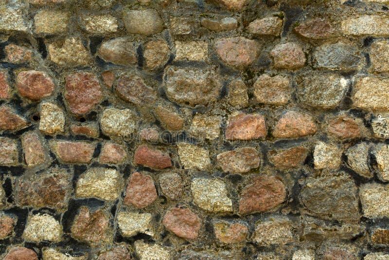 Parete di pietra sulla costa del Mar Baltico fotografia stock