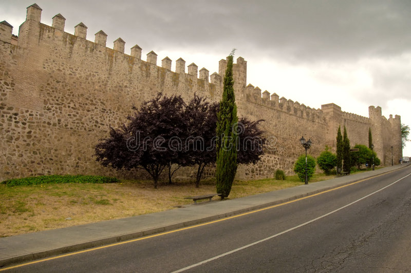 Parete di Toledo fotografie stock libere da diritti
