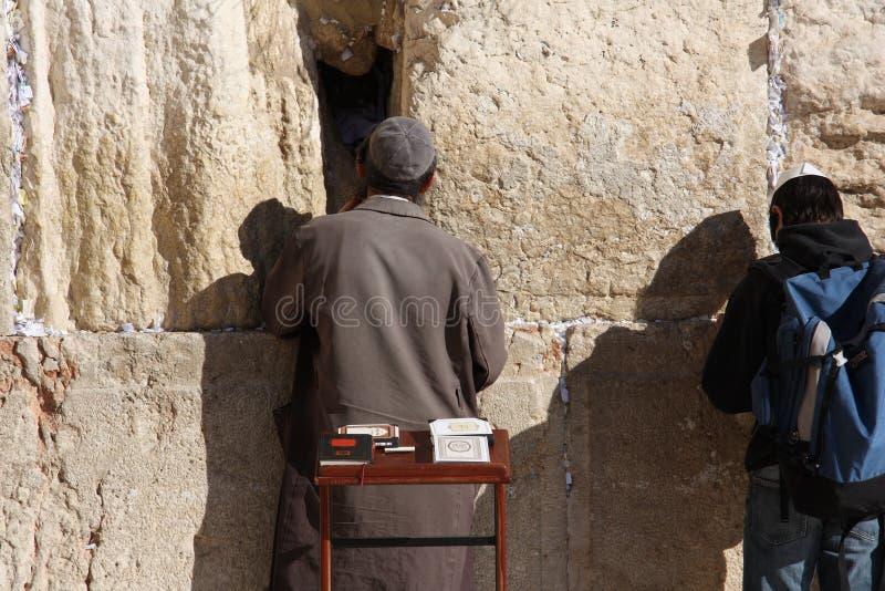 Parete di Westen a Gerusalemme fotografia stock libera da diritti
