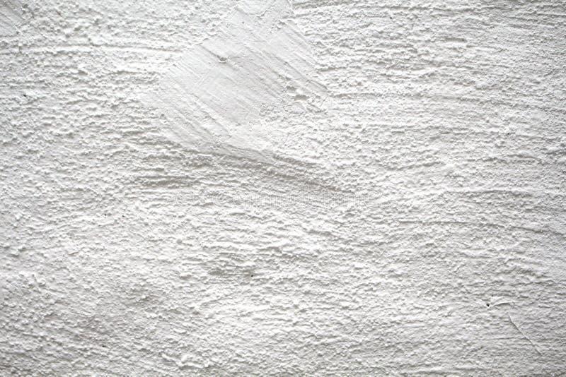 Parete dipinta con la foto sottile del primo piano di struttura Gesso bianco con struttura spazzolata fotografia stock