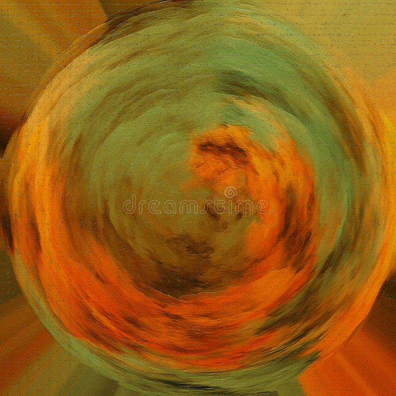 Parete dipinta decorativa multicolore Carta da parati tinta Pitture asciutte su superficie Materiale illustrativo astratto dei co royalty illustrazione gratis
