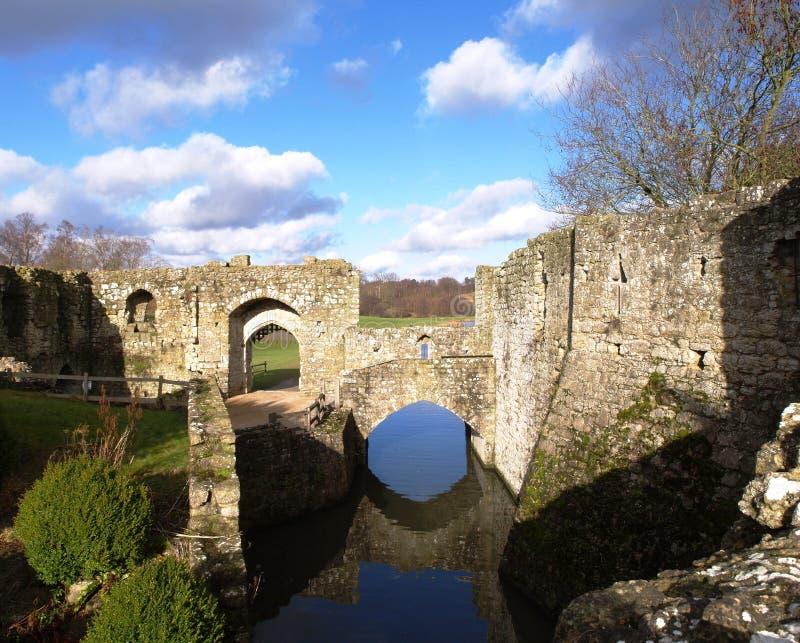 Parete e motivi della Leeds Castle immagini stock libere da diritti
