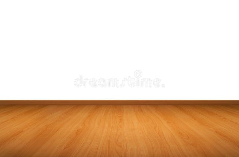 Parete e pavimento di legno fotografia stock
