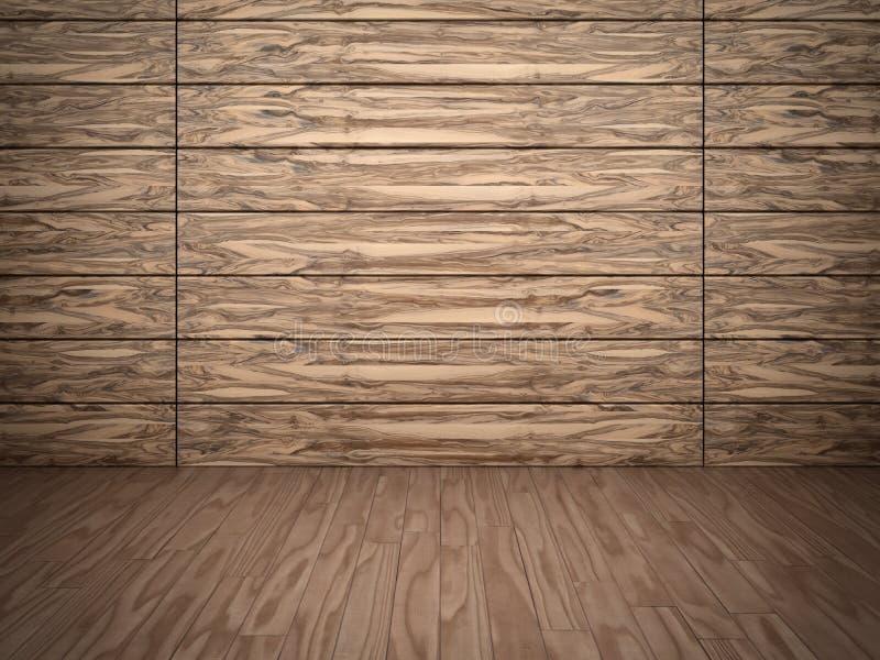 Parete e pavimento di legno illustrazione di stock