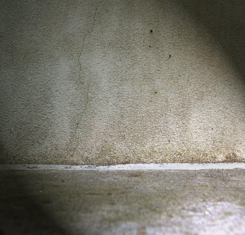 Parete e pavimento Grungy fotografia stock