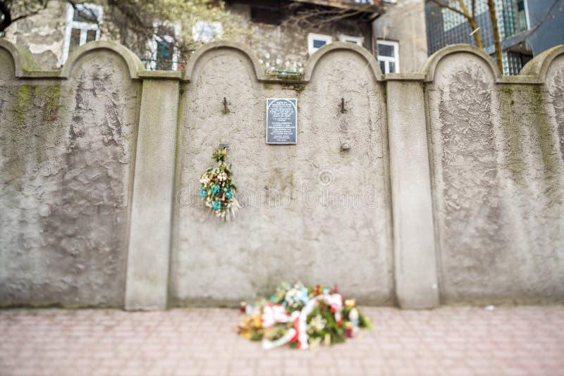 Download Parete Ebrea Del Ghetto, Cracovia, Polonia Fotografia Stock - Immagine di storico, monumento: 56887270