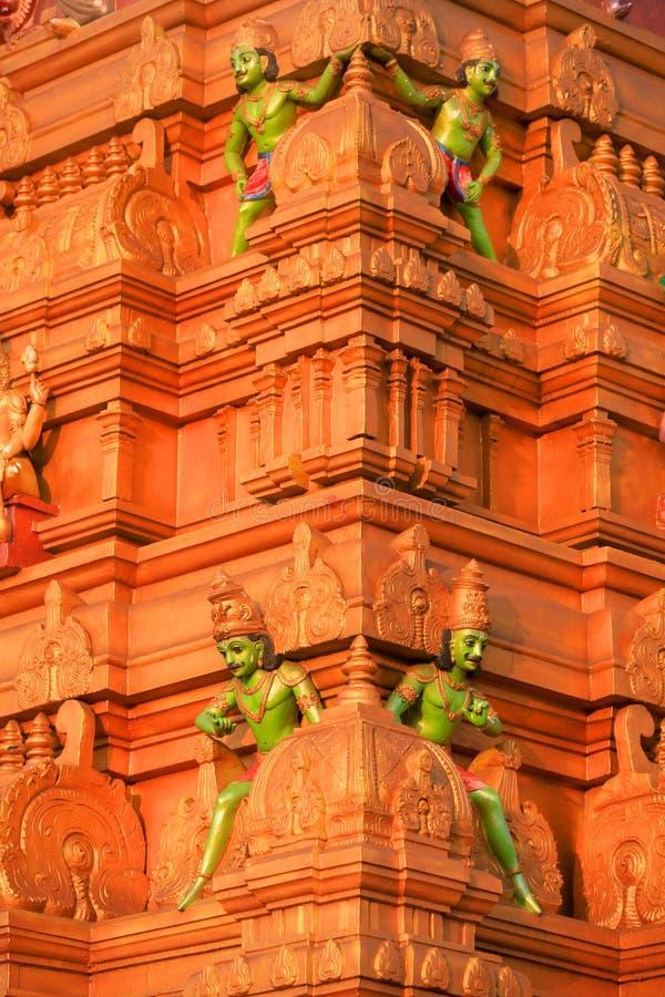 Parete esterna del tempio indù fotografia stock libera da diritti