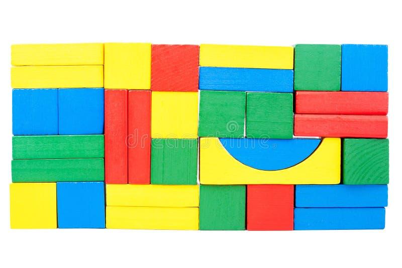 Parete fatta dei blocchi di legno immagini stock libere da diritti