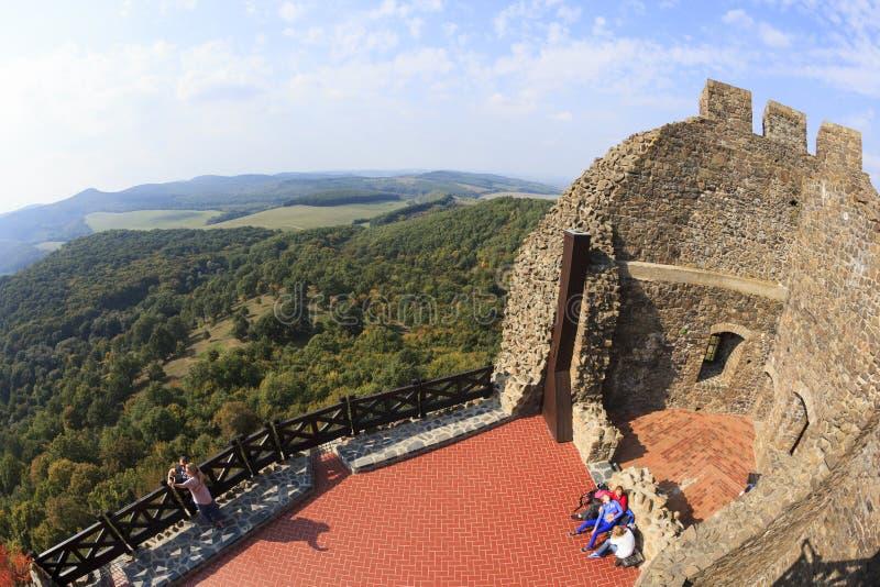 Parete fortificata del castello Ungheria di Holloko immagini stock libere da diritti