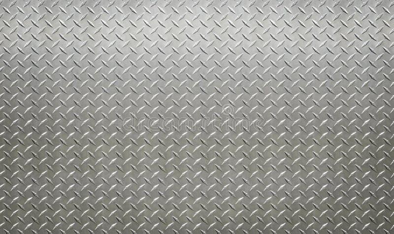 Parete industriale di colore chiaro del piatto dell'acciaio inossidabile con il diamante fotografie stock libere da diritti