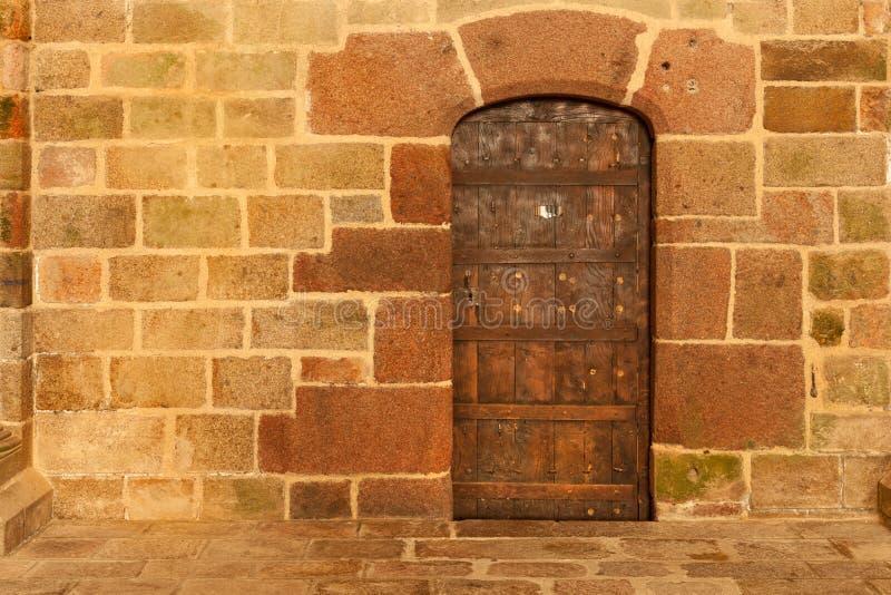 Parete interna dell'abbazia di Mont Saint-Michel immagini stock libere da diritti