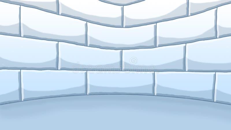 Parete interna dell'iglù del polo nord illustrazione di stock