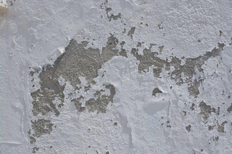 Parete intonacata a rustico bianca dello stucco fotografie stock libere da diritti