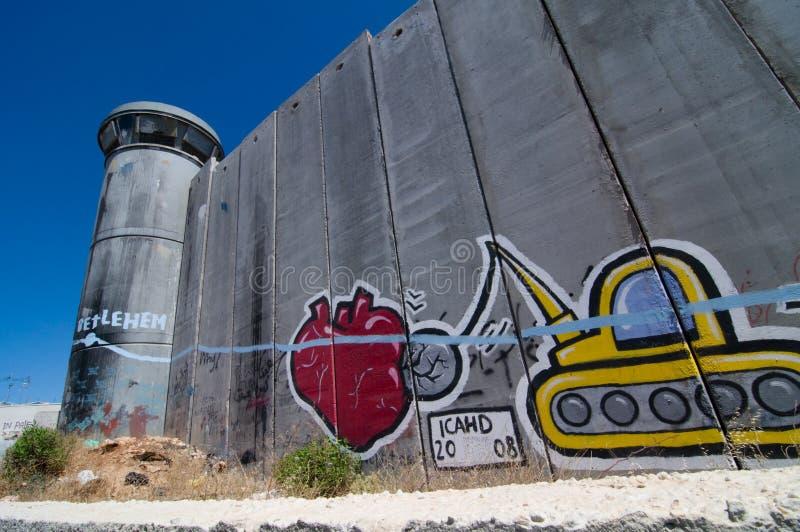 Parete israeliana di separazione immagine stock libera da diritti