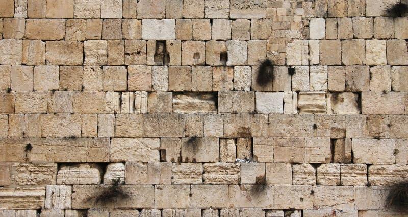 Parete lamentantesi di Gerusalemme - primo piano immagini stock