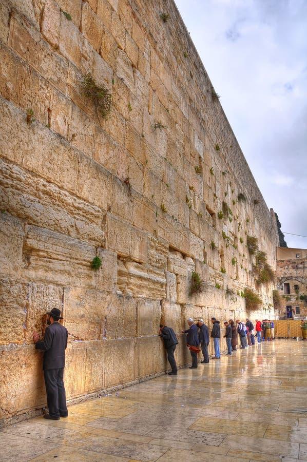 Parete lamentantesi, Gerusalemme Israele fotografia stock