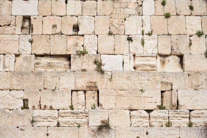 Parete lamentantesi Kotel, parete occidentale utile per fondo Gerusalemme, Israele fotografia stock libera da diritti