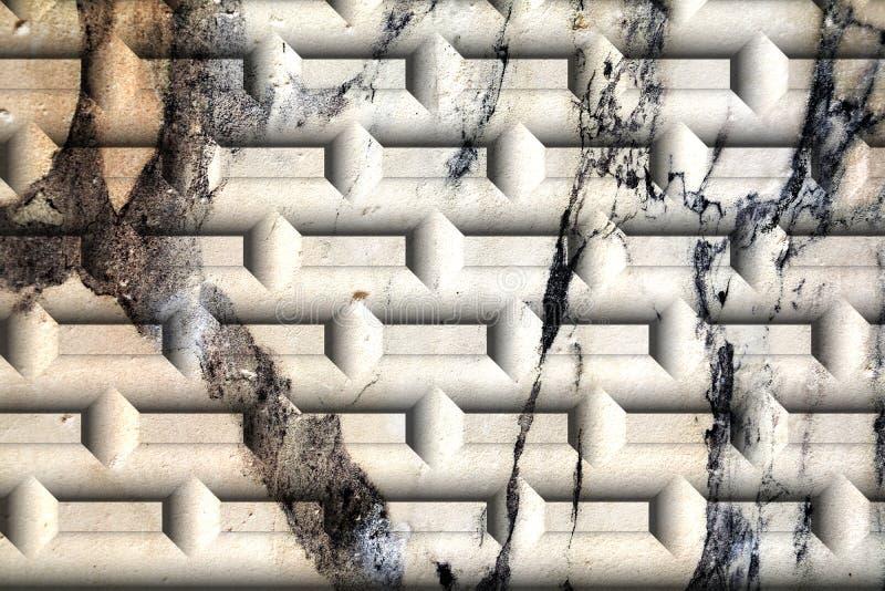 Parete, mattone, crepe sulle vecchie pareti veneziane antiche grafici immagine stock libera da diritti