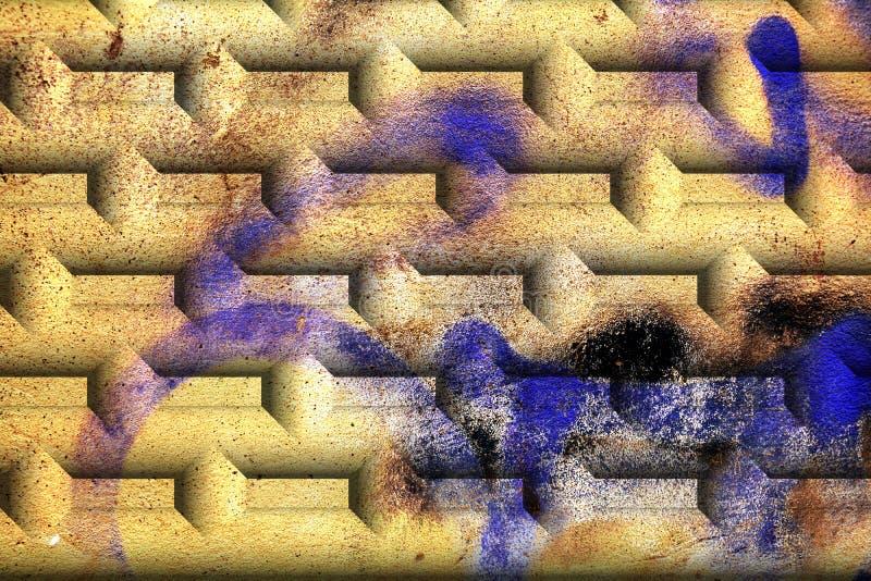 Parete, mattone, graffito, crepe sulle vecchie pareti veneziane antiche grafici fotografie stock
