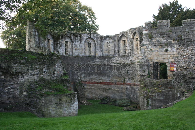 Parete medievale di York, York, Inghilterra fotografia stock