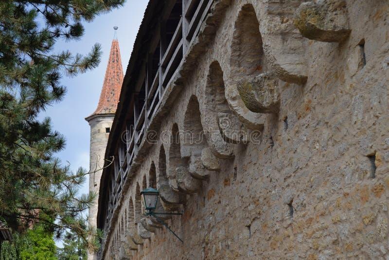 Parete medievale in Germania immagini stock