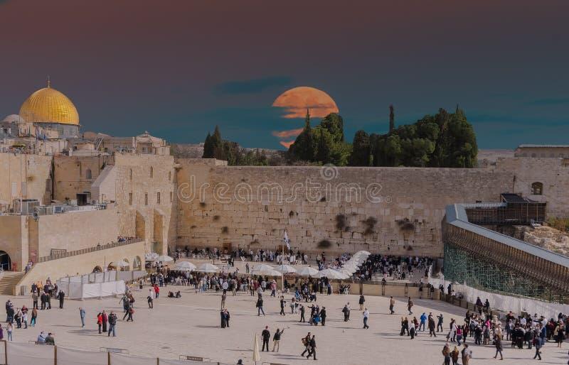Parete occidentale a Gerusalemme, Israele immagine stock