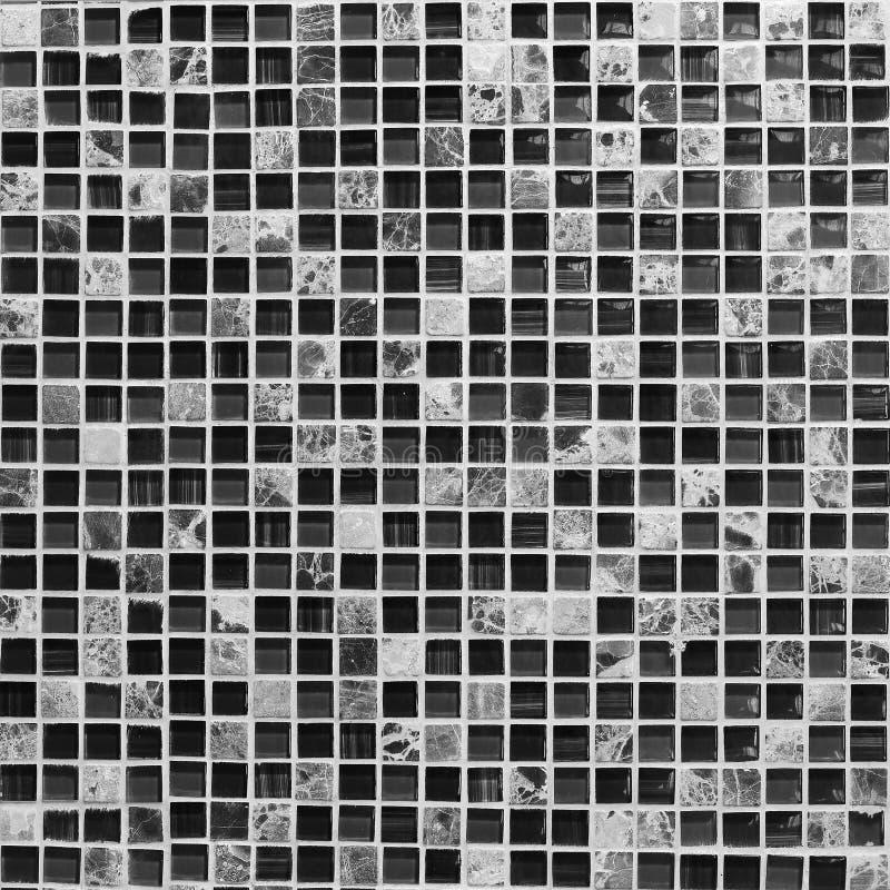 Parete ornamentale e pavimento delle mattonelle quadrate fotografia stock libera da diritti