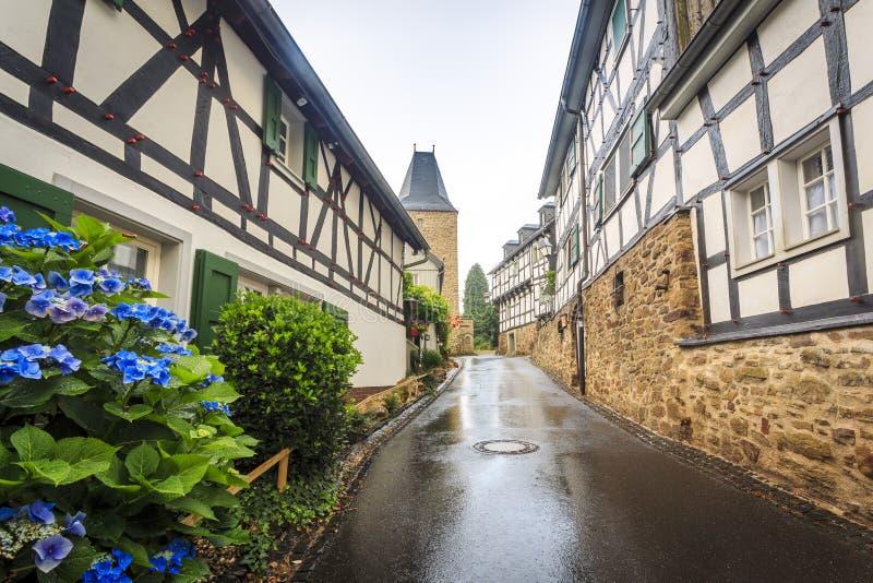 Parete prussiana tradizionale nell'architettura in Germania fotografia stock