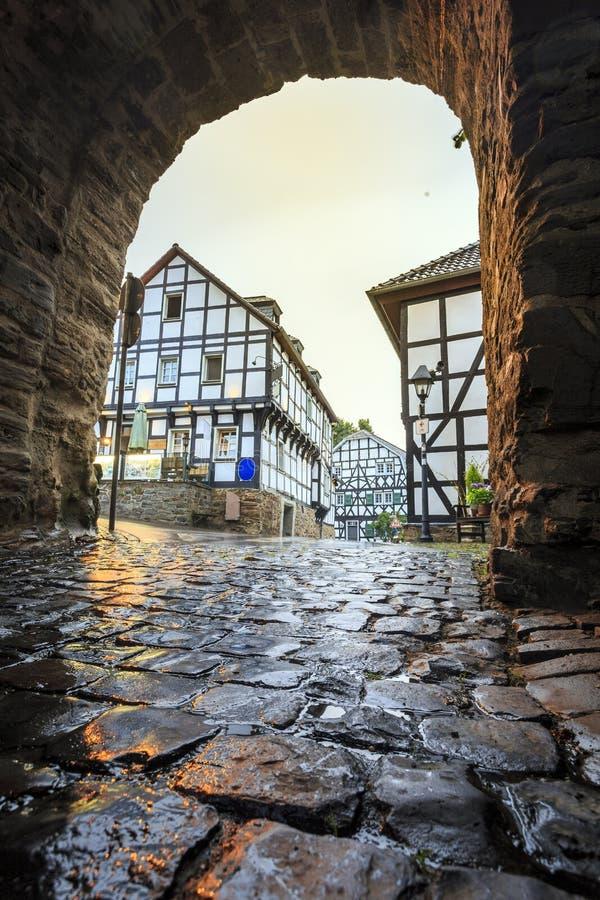 Parete prussiana tradizionale nell'architettura in Germania fotografie stock