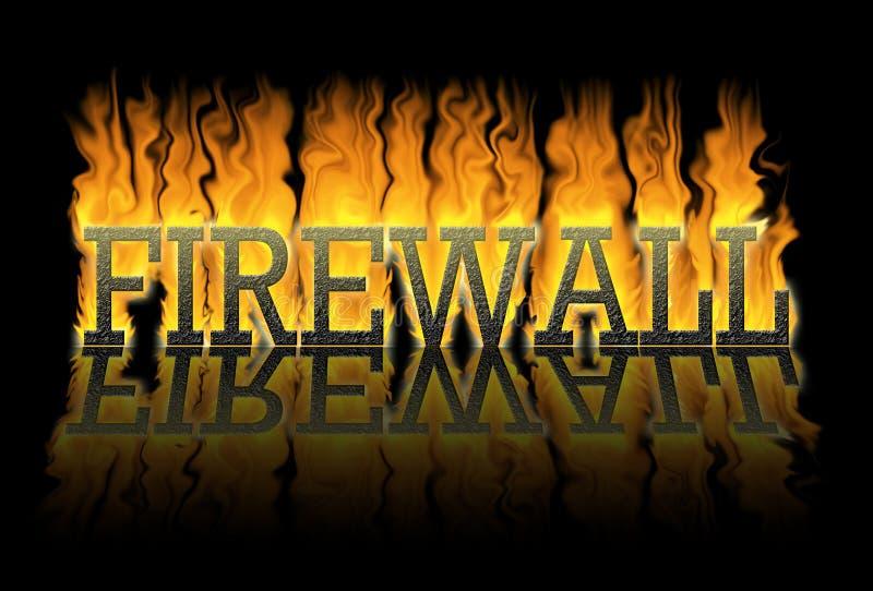 Parete refrattaria, una parete contro il fuoco illustrazione vettoriale