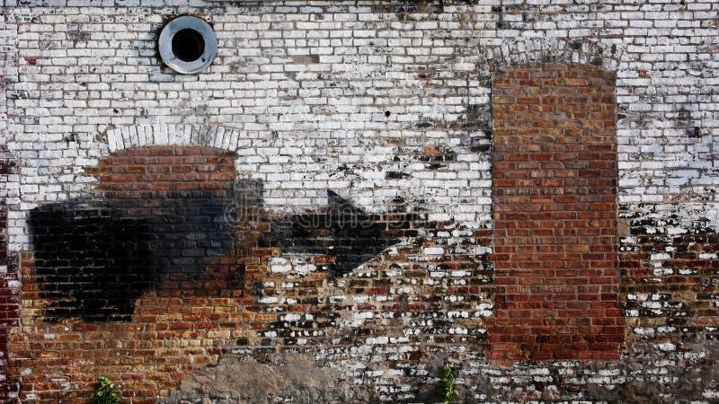 Parete urbana fotografia stock