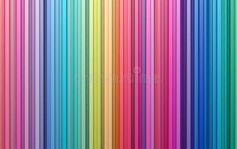 parete variopinta delle strisce del fondo dell'estratto della rappresentazione 3D immagine stock