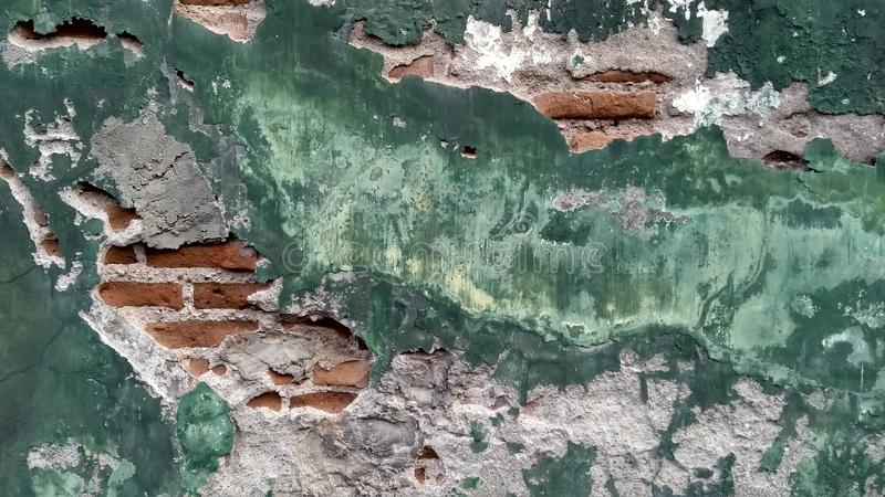 Parete verde con struttura di lerciume immagine stock
