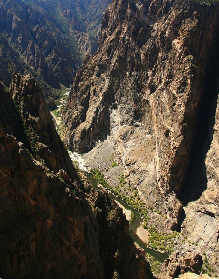 parete verniciata canyon nero fotografia stock libera da diritti
