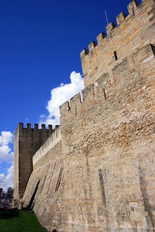 Pareti del castello fotografia stock
