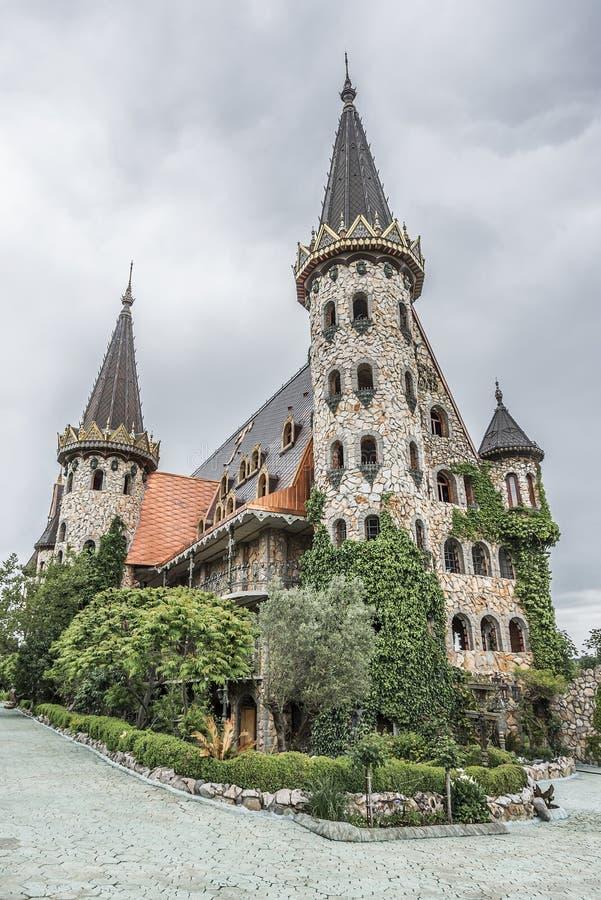 Pareti del castello immagini stock