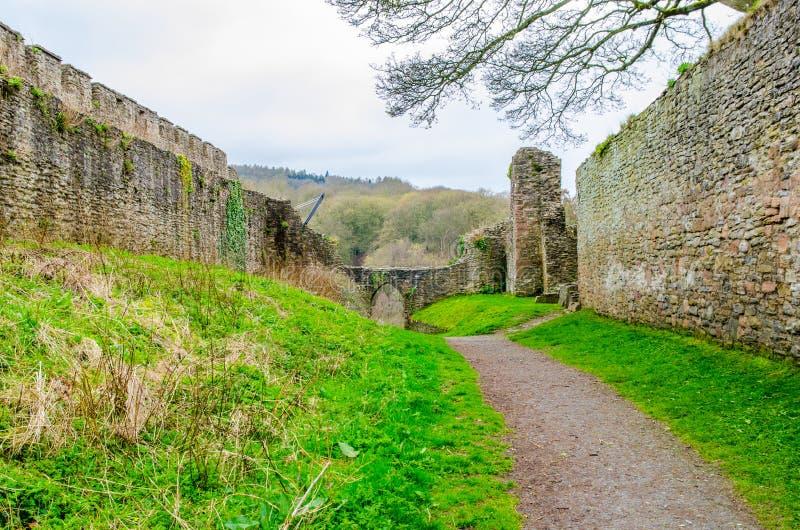 Pareti del castello di Lulow, Shropshire, Gran-Bretagna, Regno Unito fotografia stock libera da diritti