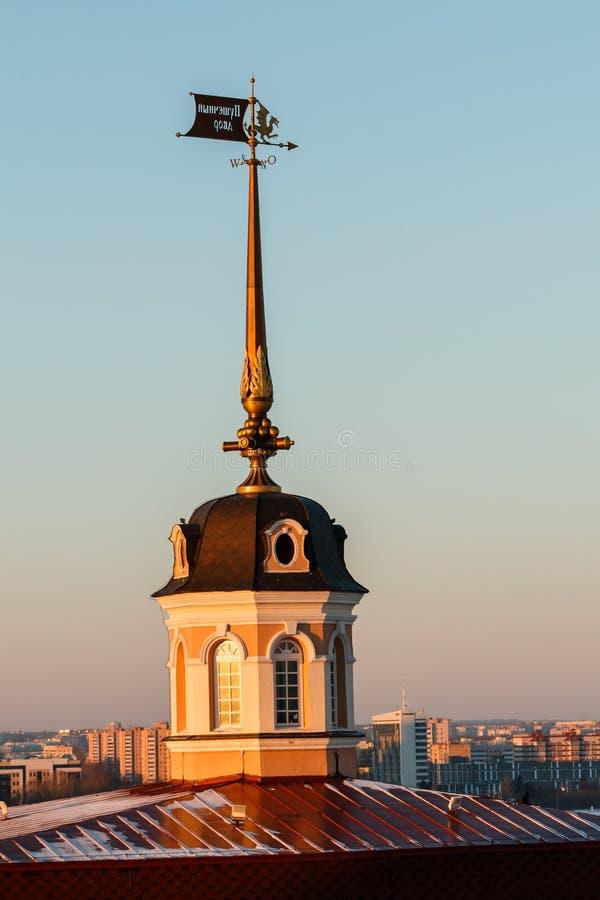 Pareti del Cremlino di Kazan fotografia stock libera da diritti
