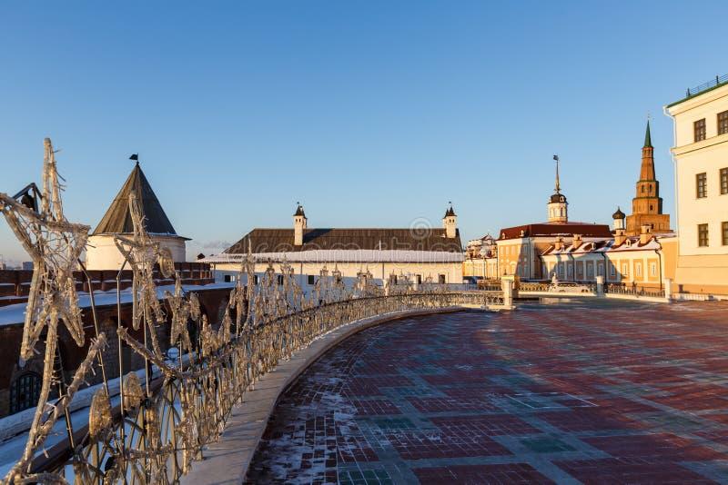 Pareti del Cremlino di Kazan fotografia stock
