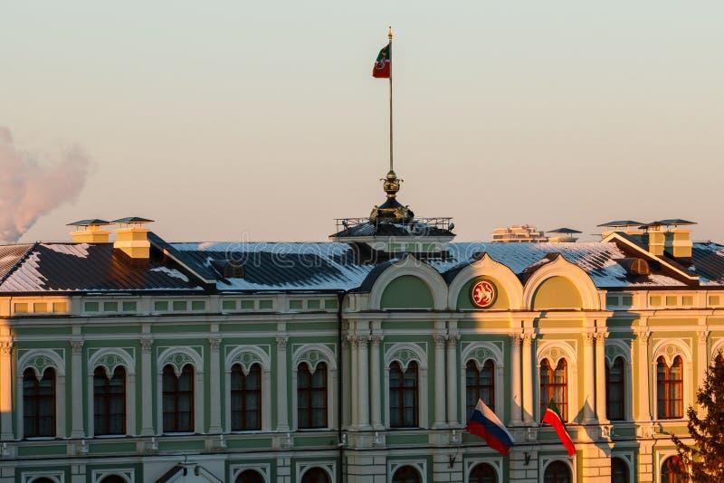 Pareti del Cremlino di Kazan immagini stock