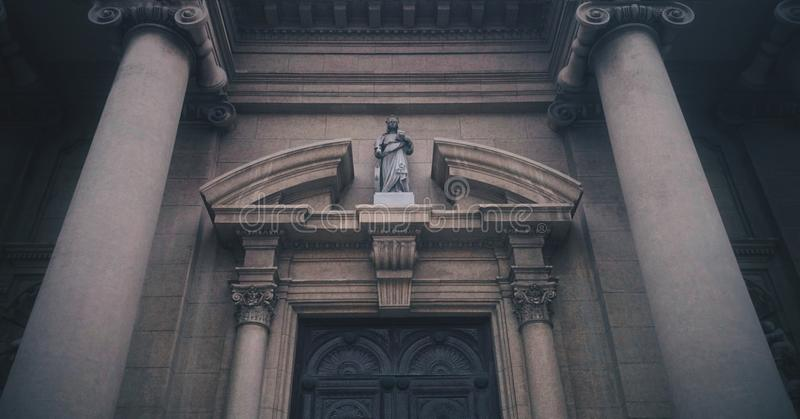 Pareti della chiesa cattolica fotografia stock libera da diritti