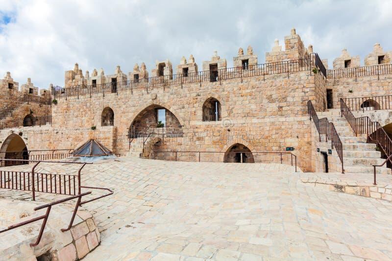 Pareti della città antica, Gerusalemme, Israele fotografie stock libere da diritti