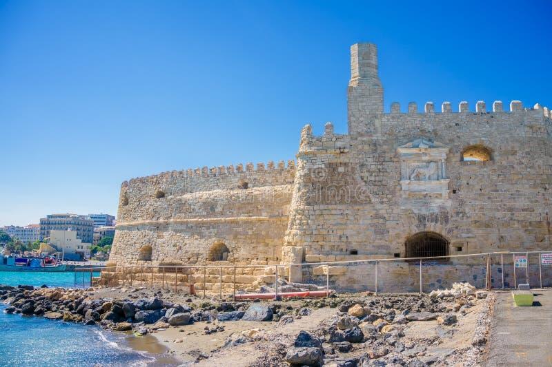 Pareti della fortezza veneziana di Koules fotografia stock